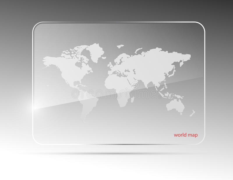 Carte en verre du monde. illustration stock