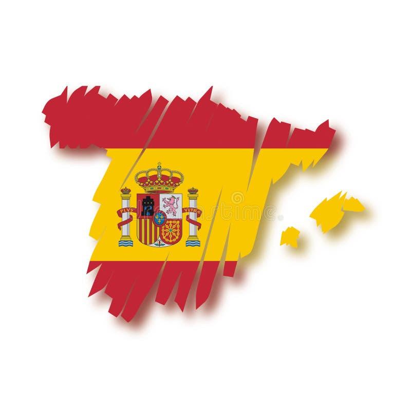 Carte Espagne de vecteur illustration libre de droits