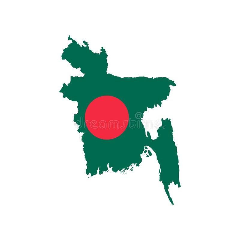 Carte et drapeau du Bangladesh illustration de vecteur
