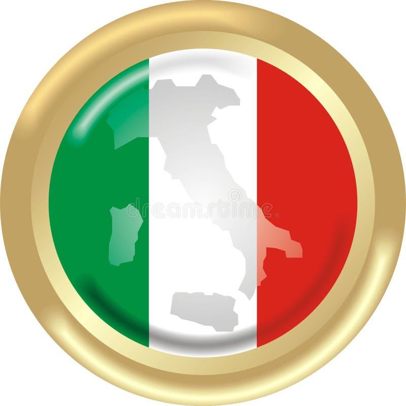 Carte et indicateur d'Italie illustration libre de droits
