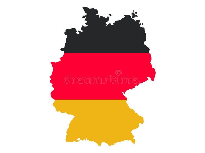 Carte et indicateur de l'Allemagne illustration stock
