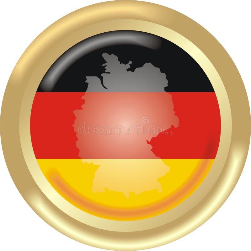 Carte et indicateur de l'Allemagne illustration libre de droits