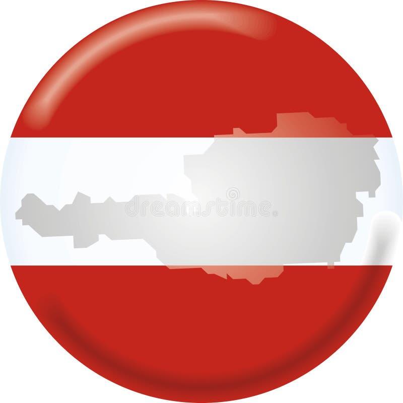 Carte et indicateur de l'Autriche illustration libre de droits