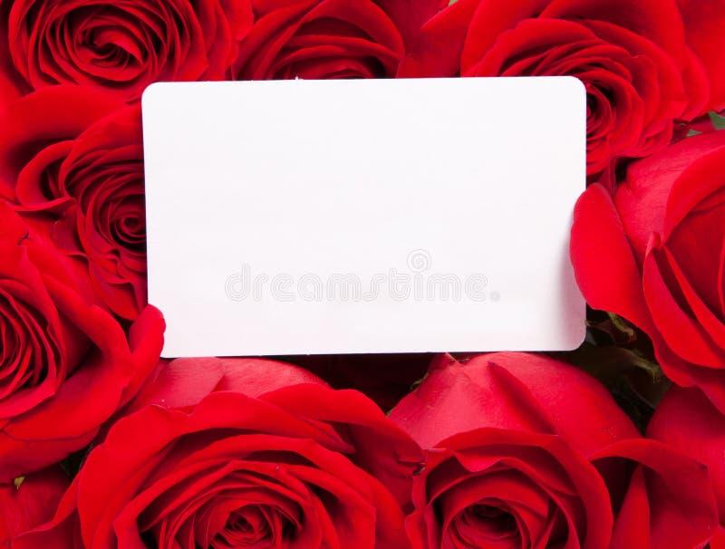 Carte et roses photographie stock libre de droits