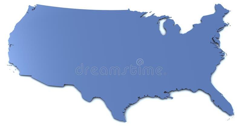 carte Etats-Unis illustration de vecteur