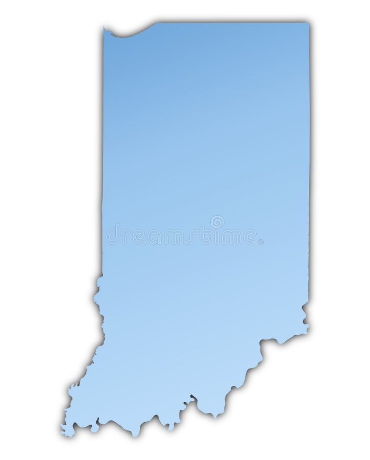 carte Etats-Unis de l'Indiana illustration stock