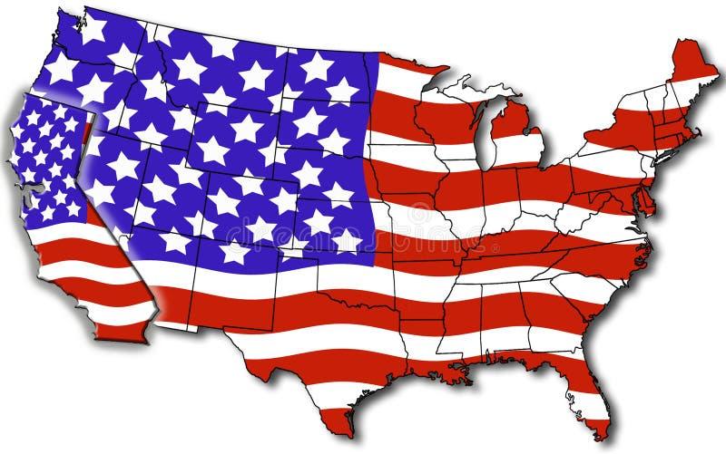 carte Etats-Unis de la Californie illustration de vecteur