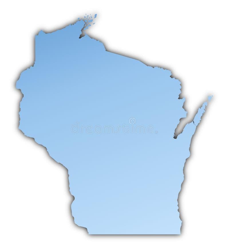 carte Etats-Unis le Wisconsin illustration de vecteur