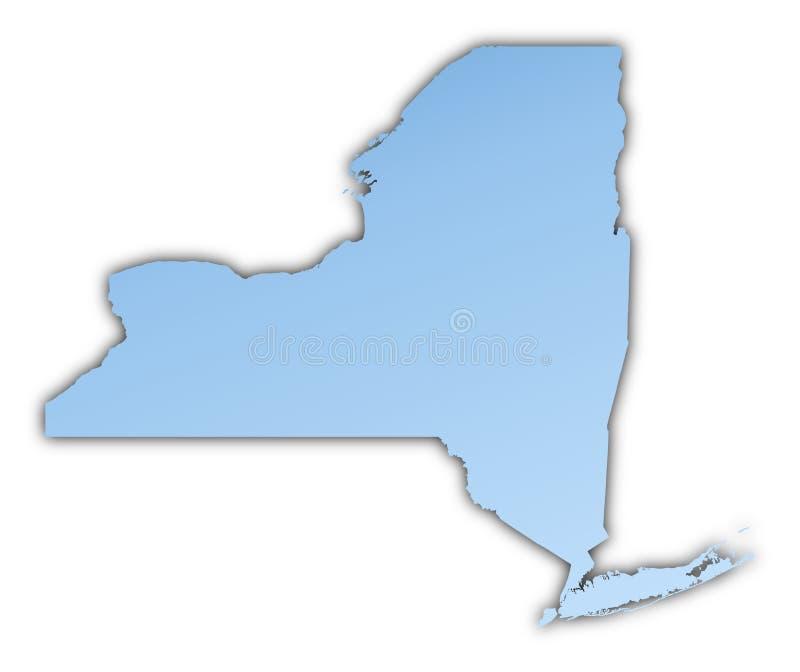carte Etats-Unis neufs York illustration libre de droits