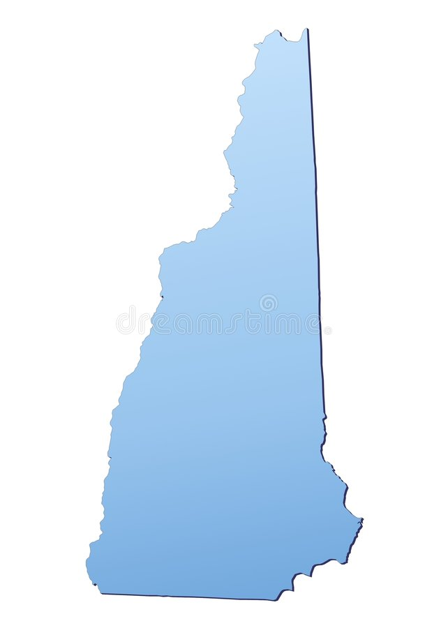 Carte (Etats-Unis) New Hampshire illustration libre de droits