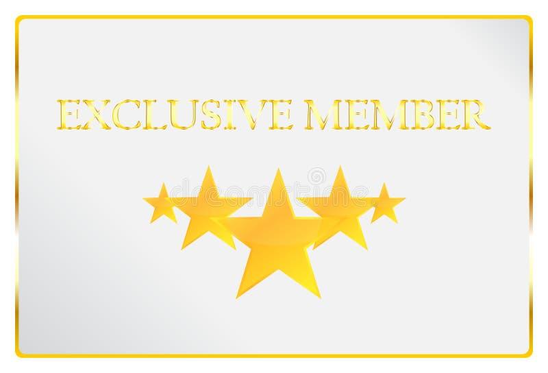 Carte exclusive de membre illustration de vecteur