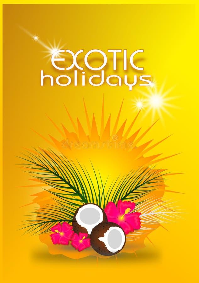 Carte exotique de vacances illustration de vecteur