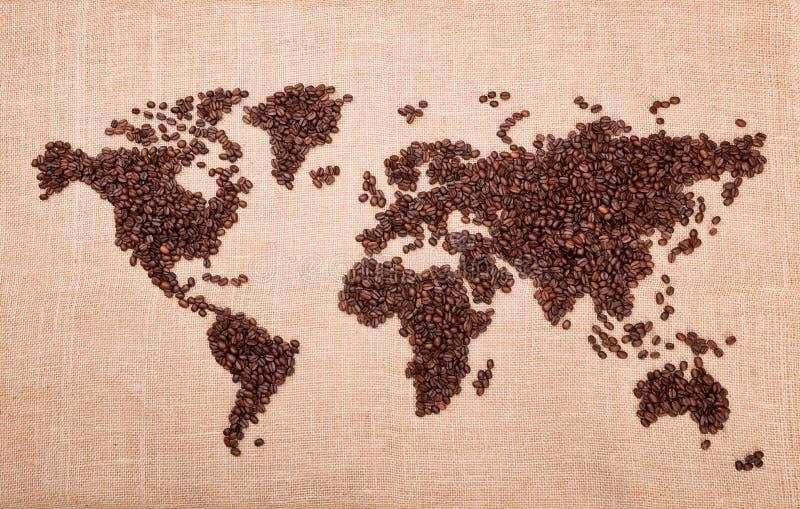 Carte faite de café photos libres de droits
