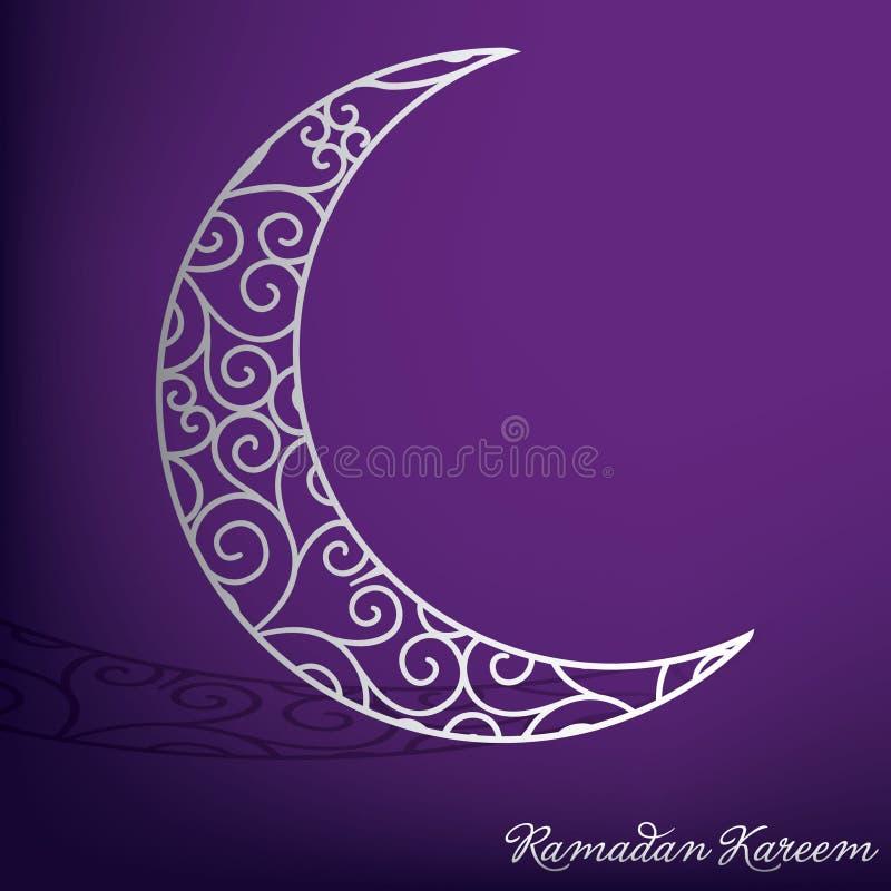 Carte Filigree Moon Ramadan illustration stock