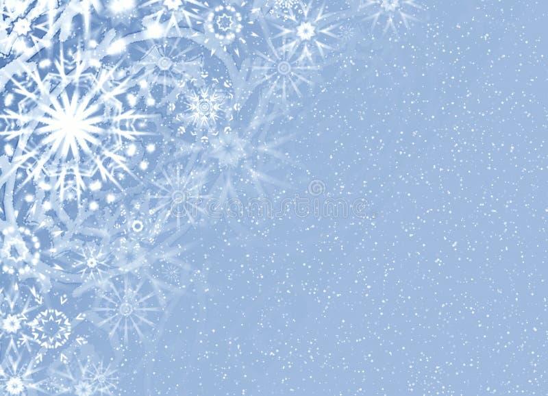 Carte fine de neige de Noël illustration libre de droits
