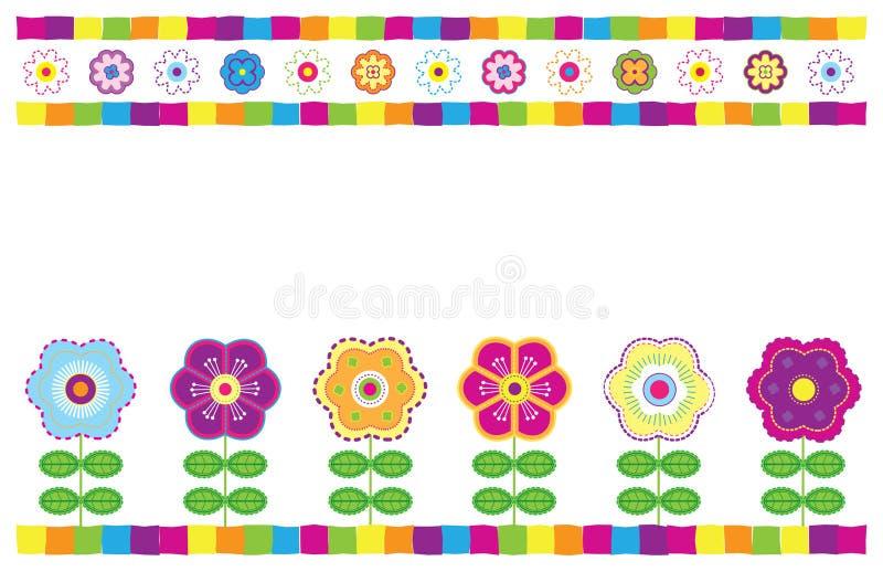 Carte florale illustration de vecteur