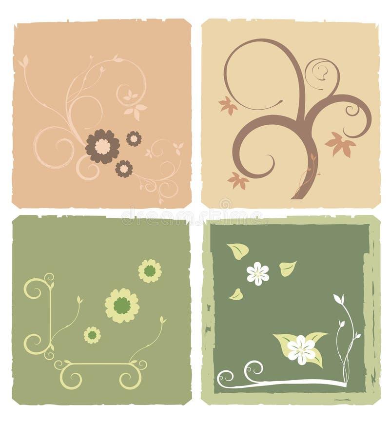 Carte florale illustration libre de droits