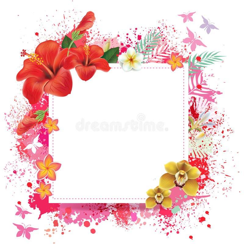 Carte florale avec la place pour le texte illustration de vecteur