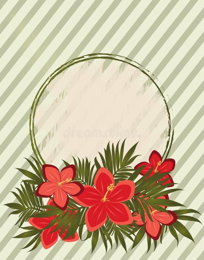 Carte florale d'amour de cru d'élégance, vecteur illustration de vecteur