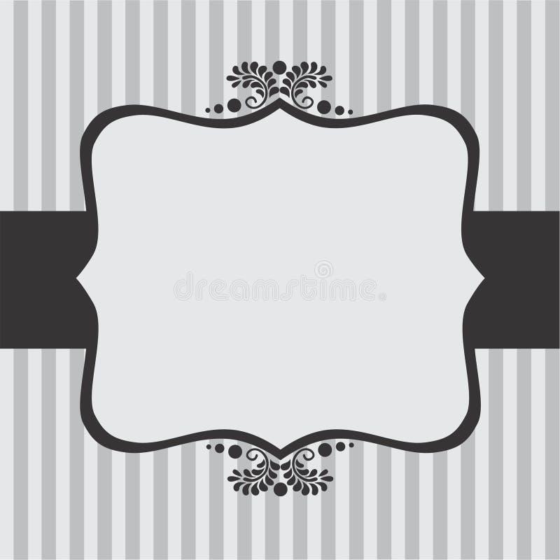 Carte florale de cru image stock