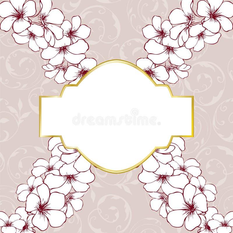 Carte florale de fond illustration stock