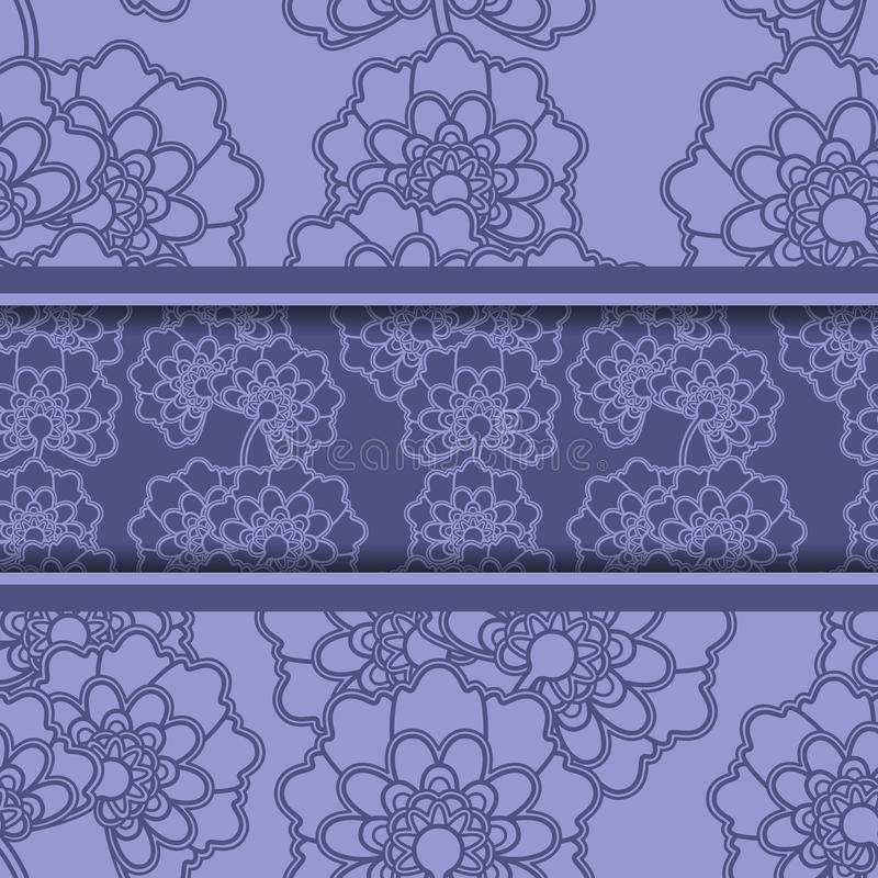 Carte florale de salutation ou d'invitation illustration stock