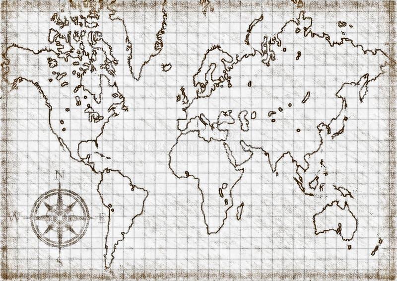 Carte générée par ordinateur du monde