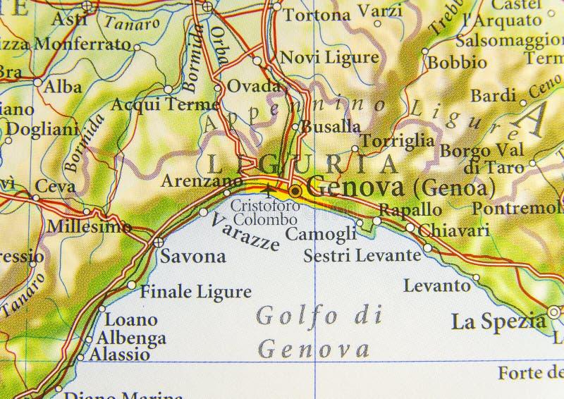 Carte Géographique De Pays Européen Italie Avec La Ville De Gênes
