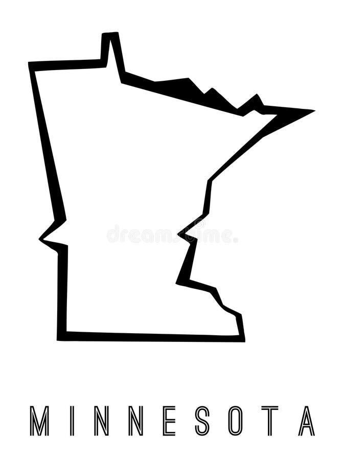 Carte géométrique du Minnesota illustration de vecteur