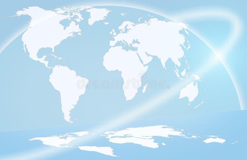 Carte globale illustration stock