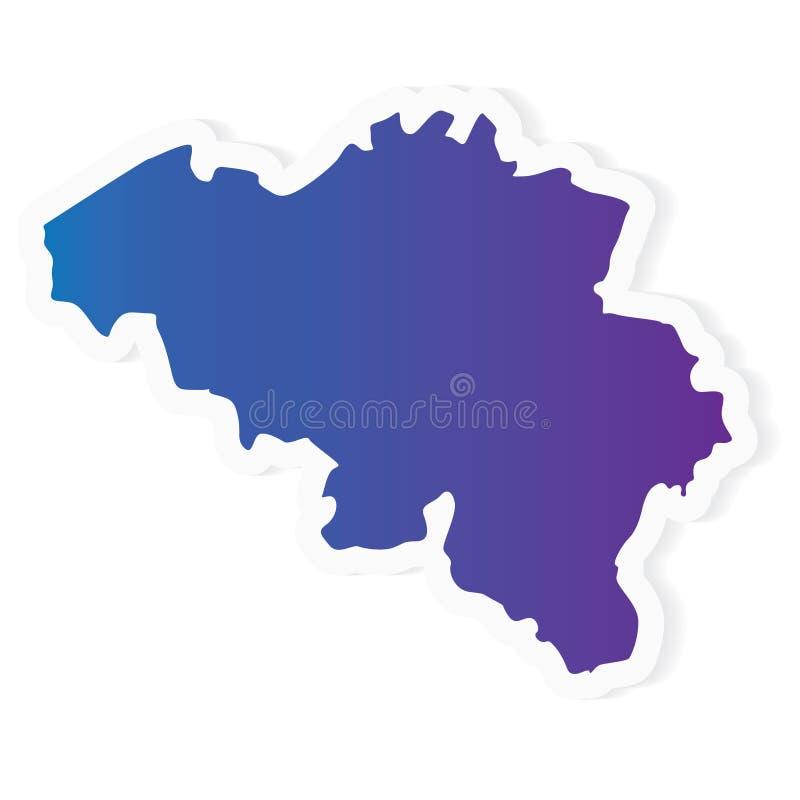 Carte Gradient Belgium illustration stock