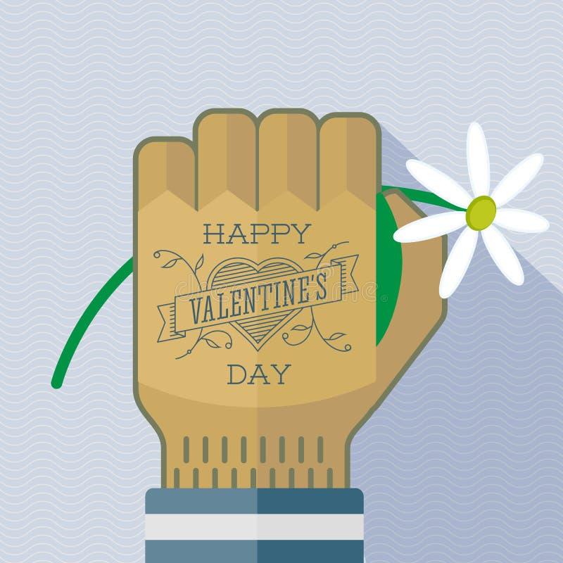 Carte greating de tatouage heureux de Saint-Valentin illustration libre de droits