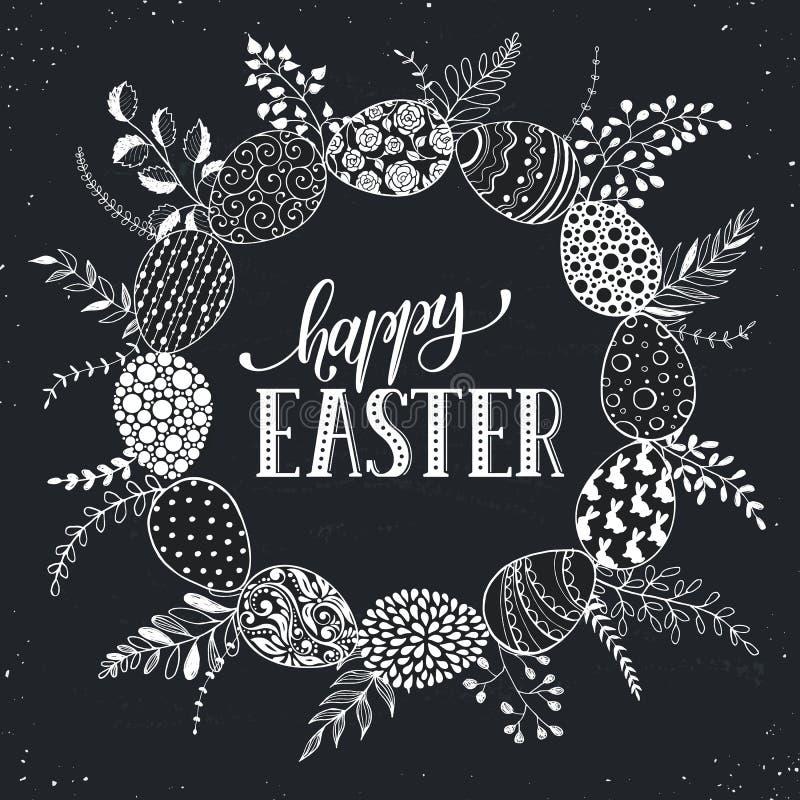 Carte greetting de Pâques illustration stock
