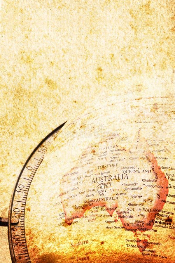 Carte grunge de l'Australie photographie stock libre de droits