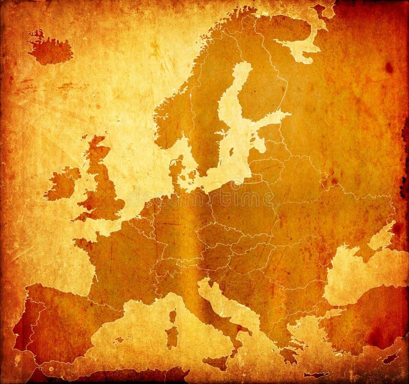 Carte grunge de l'Europe photos libres de droits