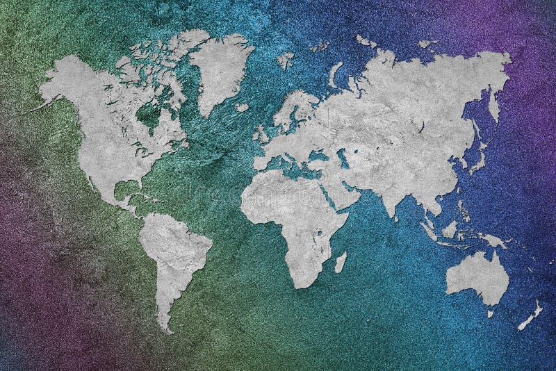 Carte grunge du monde Type de cru image stock