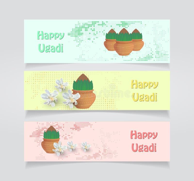 Carte heureuse d'Ugadi illustration stock
