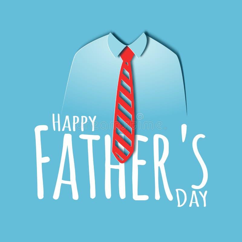 Carte heureuse de coupe de papier de jour de pères illustration libre de droits
