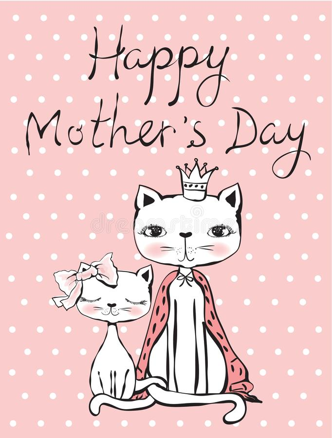 Carte heureuse de fête des mères illustration stock