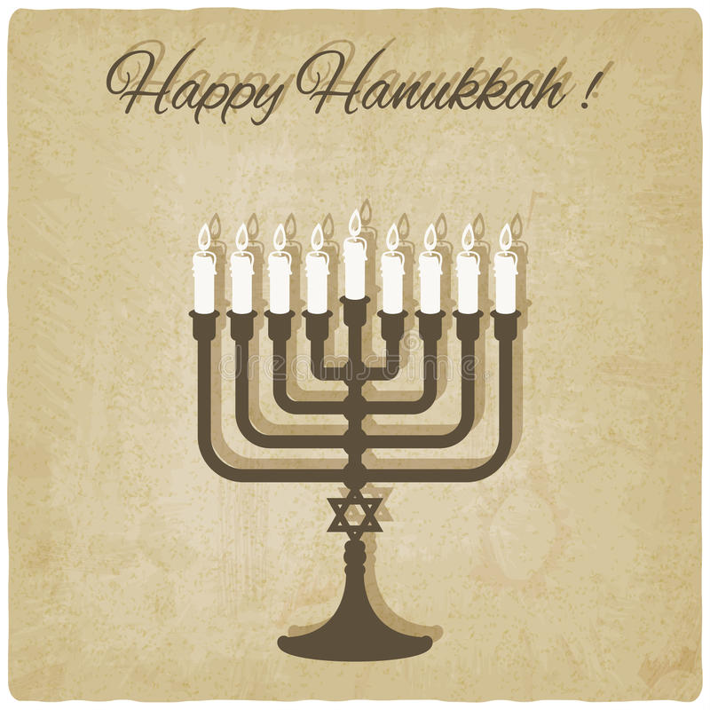Carte heureuse de hanukkah illustration stock