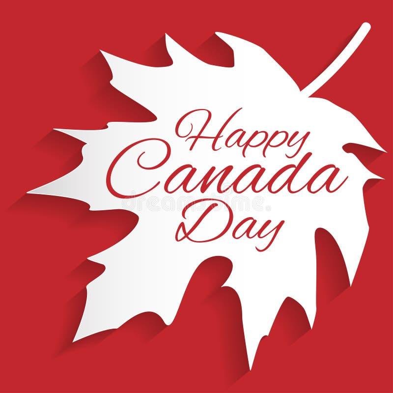 Carte heureuse de jour de Canada illustration stock