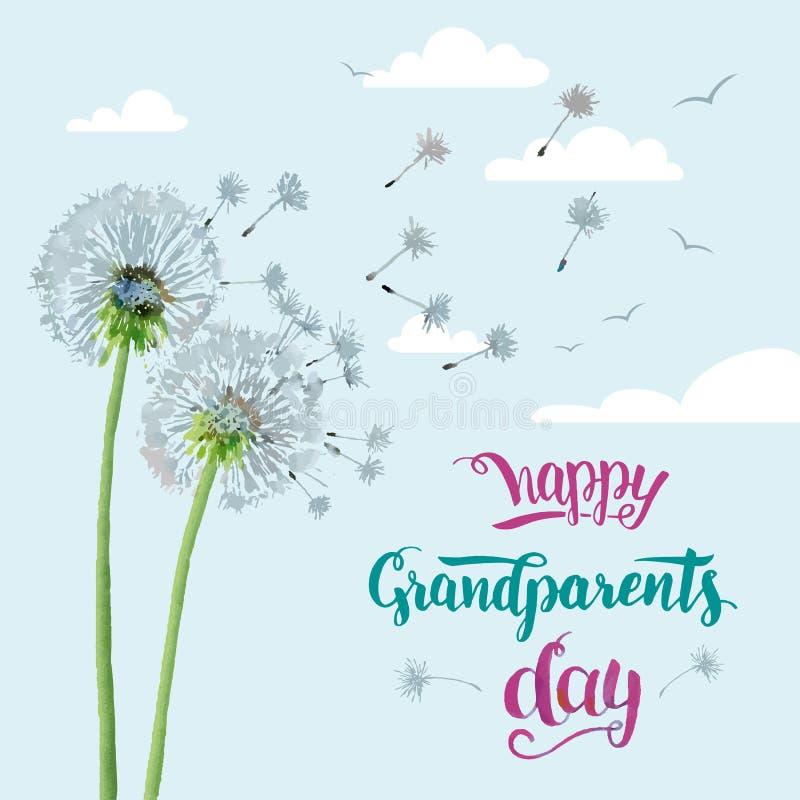 Carte heureuse de jour de grands-parents illustration de vecteur