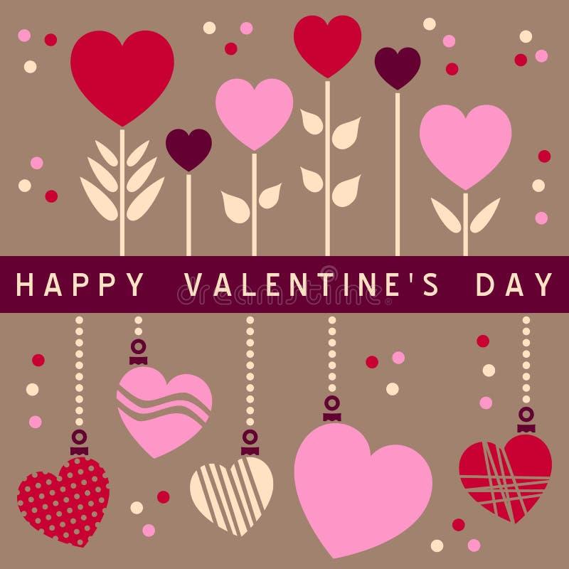 Carte heureuse de jour de Valentines [2] illustration libre de droits