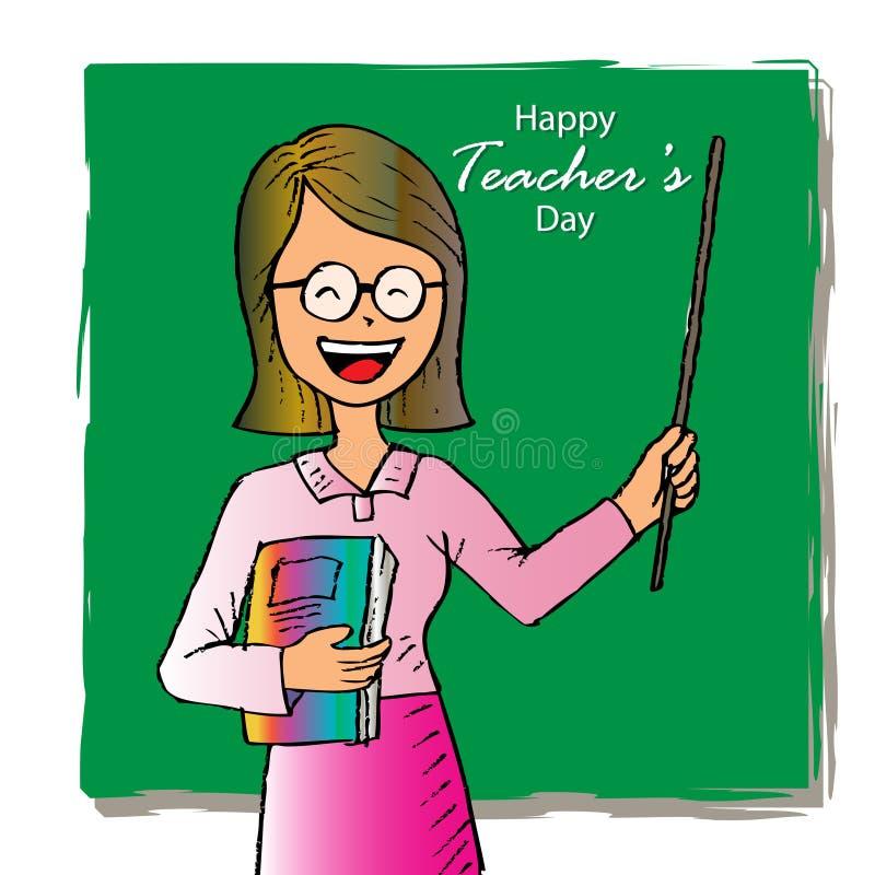 Carte heureuse de jour de professeurs illustration de vecteur