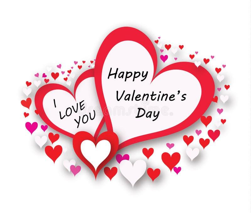 Carte heureuse de valentine illustration stock