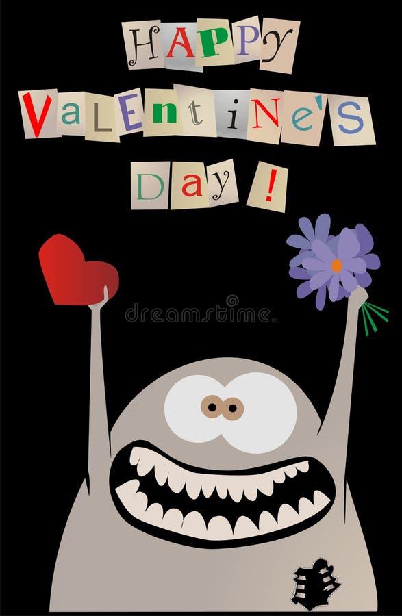 Carte heureuse de valentine image libre de droits