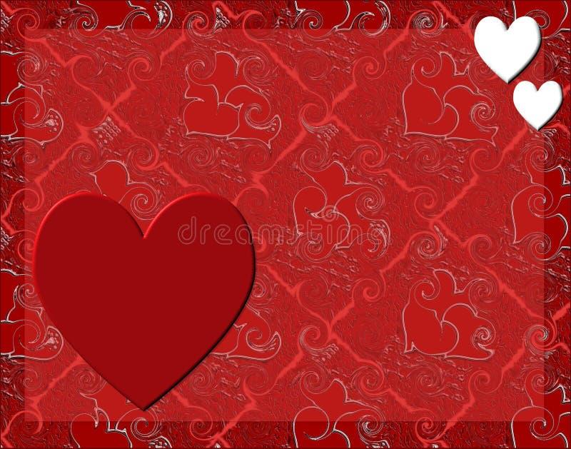 Carte heureuse de Valentines illustration stock