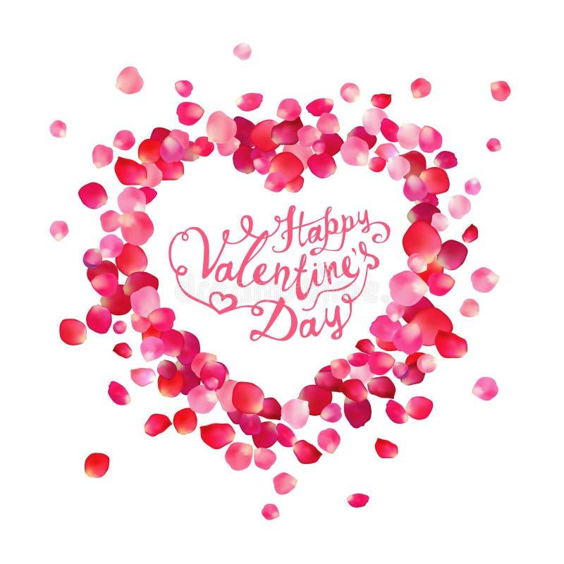 Carte heureuse de vecteur de jour du ` s de Valentine illustration de vecteur