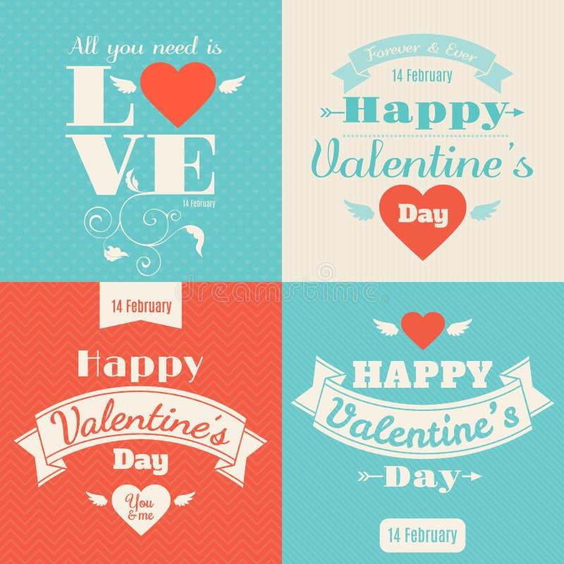Carte heureuse de vecteur du jour de valentine illustration stock