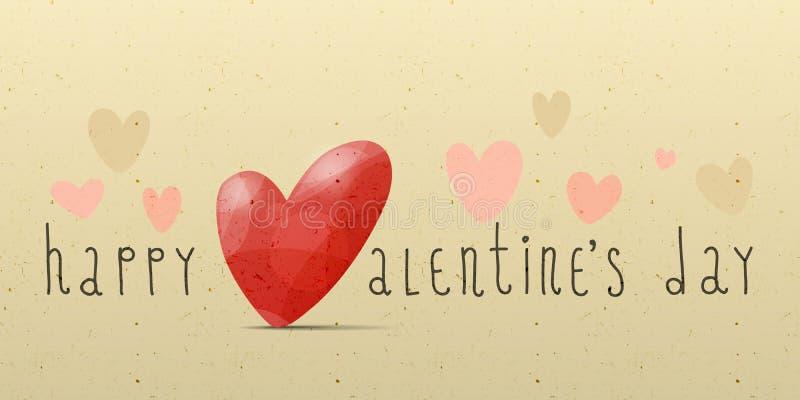 Carte heureuse du jour de valentine illustration libre de droits